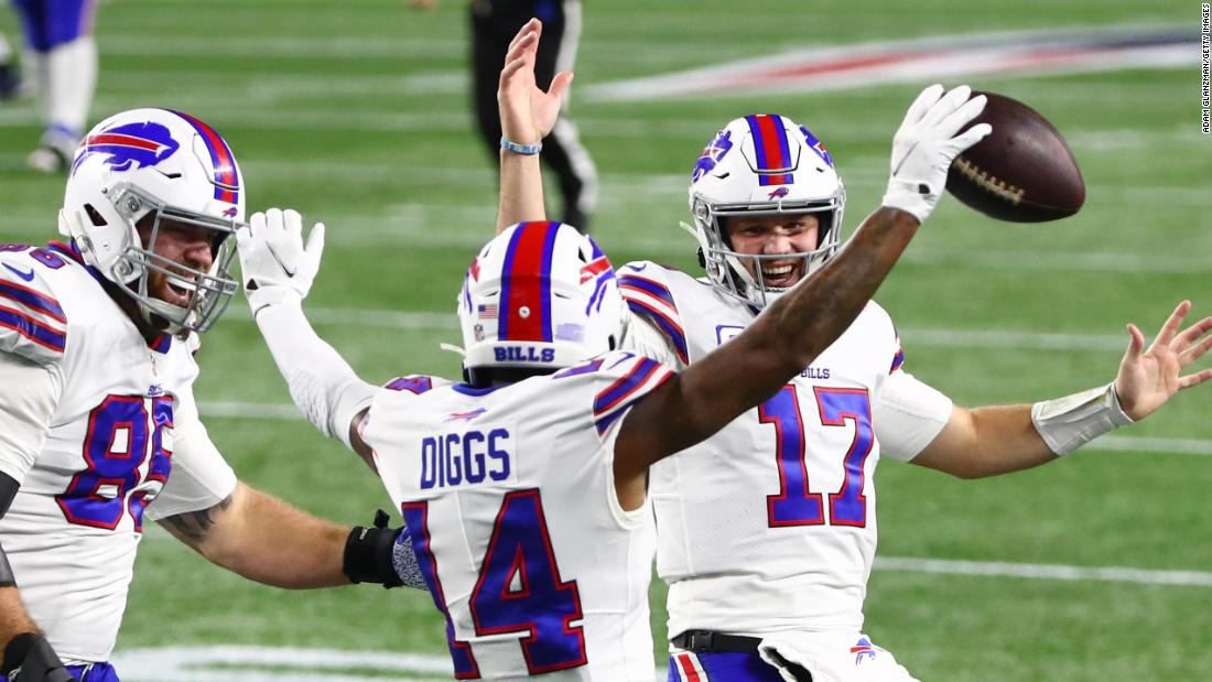 The Buffalo Bills crush the New England Patriots to sweep the Bill Bilesic team for the first time since 1999