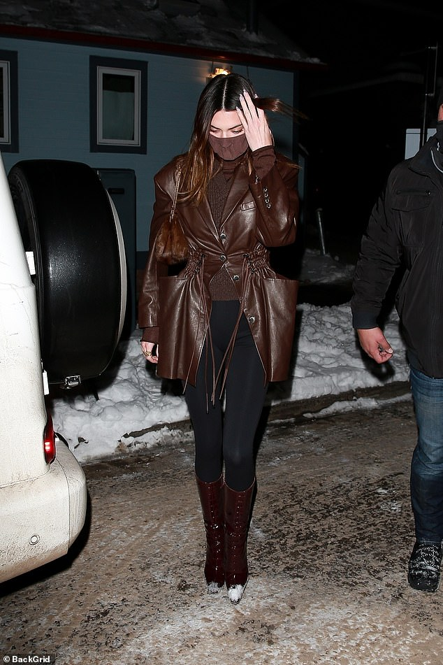 Stunning: Kendall's curvaceous model legs were fully displayed while enhancing her height in shoes
