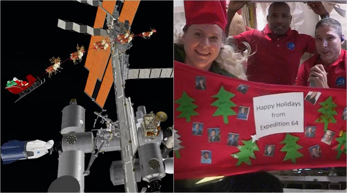 christmas, christmas 2020, christmas in space, international space station, christmas in iss, norad santa space station, astronauts celebrate christmas, viral news