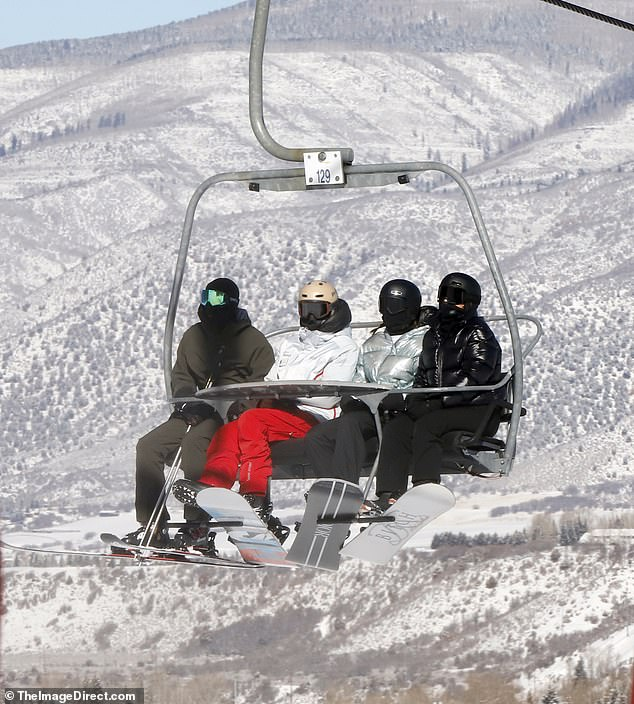 Family Affair: Along with Kendall, Kylie, Chris, and Corey, family friend and fellow model Faye Khadra is spotted in Aspen with reality stars, as well as rapper Travis Scott