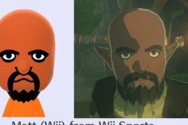 Nintendo Breath of the Wild mainly uses fictional Miis as non-playable characters