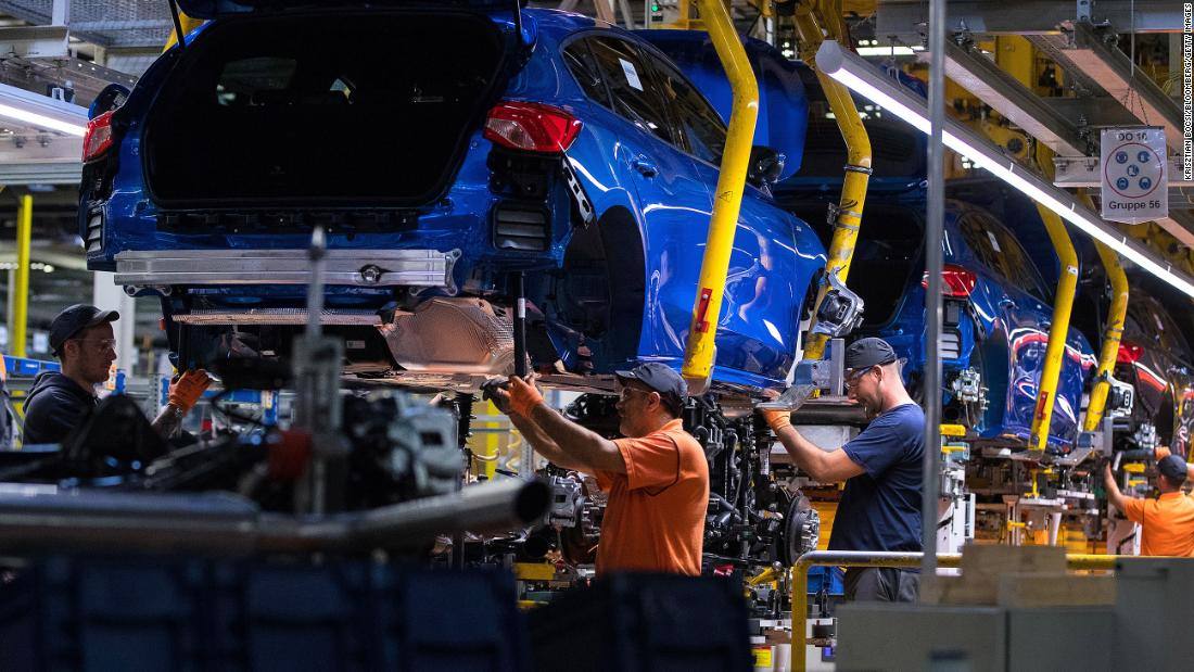 Ford shuts down its German plant for a month as the global chip shortage worsens