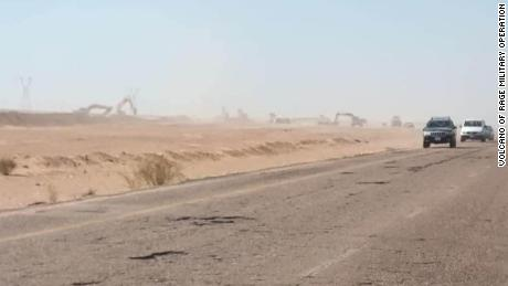 Pictures of trenching between Sirte and Al-Jufrah appeared in the summer of 2020.