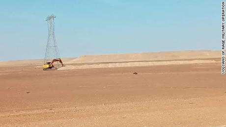 By January 2021, more trench excavation work was captured by camera along the road linking Sirte with Jufra.