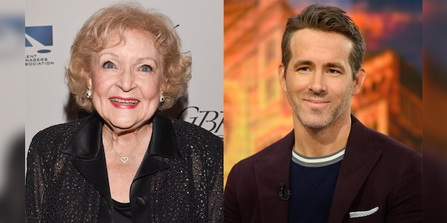 Betty White (left) and Ryan Reynolds (right) had a terrifying fake feud on set