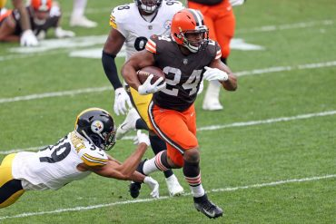 Brown ends a 17-season drought with a 24-22 win over the Steelers, and a wild card rematch win at Heinz Field