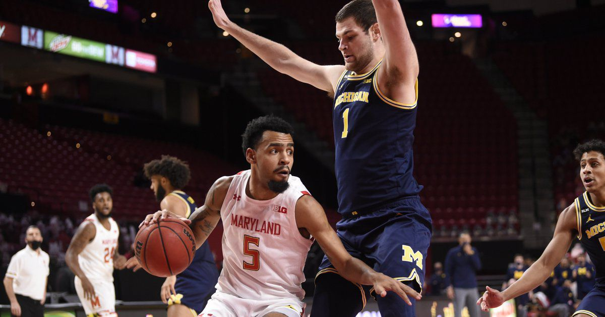 Hunter Dickson leads Michigan to bypass Maryland 84-73