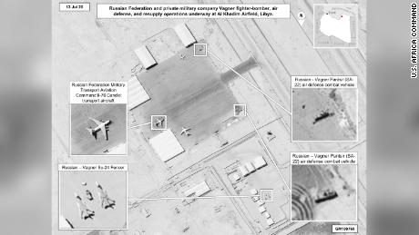 The United States again accuses Russia of sending weapons and mercenaries to Libya