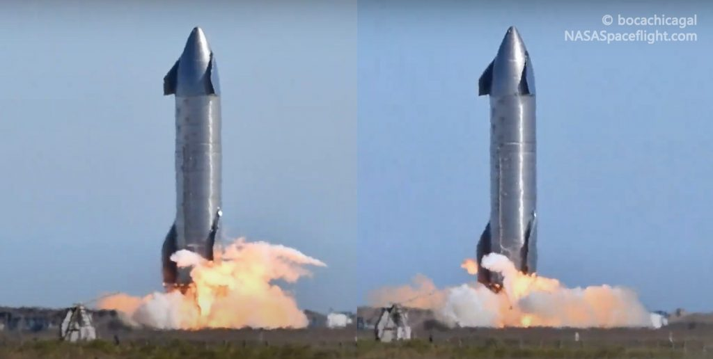 SpaceX Starship launched the Raptor engines three times in one day