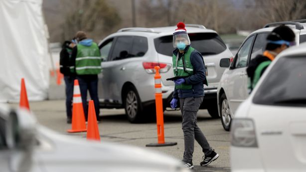 People in cars line up for COVID-19 testing outside of the Maverik Center in West Valley City on Tuesday, Dec. 22, 2020. Beginning Dec. 28, Salt Lake County will offer rapid COVID-19 tests at the center, 2050 W. 3100 South, Monday through Saturday,10 a.m. to 3 p.m. No testing will be conducted Dec. 31 through Jan. 2, and registration is required at SaltLakeHealth.org.