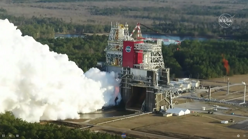 The Moon rocket test conducted by NASA on Saturday did not go as planned | Void