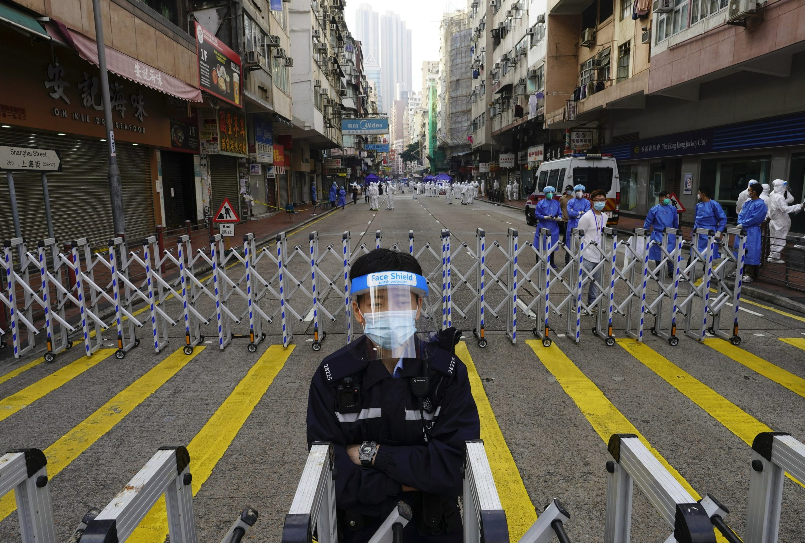 Thousands of Hong Kong residents have been locked down to contain the coronavirus